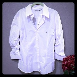 Womens 3/4 sleeve stretch shirt size XL